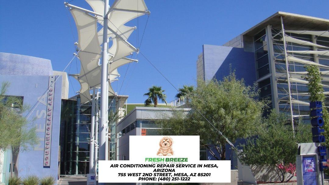 Mesa Arts Center building in downtown Mesa
